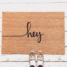 ☺Hey Doormat  ❶Details ○ Coir fiber rug with a latex bottom backing (to prevent slipping) ○ Super heavy duty construction & made with quality