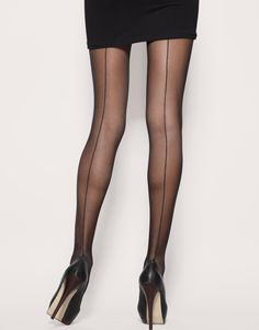French back seam tights. So chic and elegant - I just wore these for my birthday last weekend with a black tube dress and blazer.