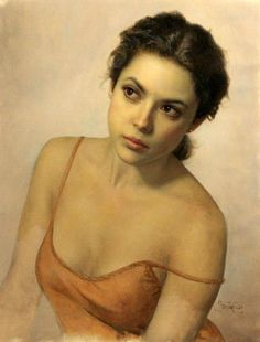 Cesar Santos - portrait of a lady on imgfave Woman Painting, Figure Painting, Portrait Art, Portraits, Portrait Paintings, Cesar Santos, Damien Hirst, Face Art, American Artists