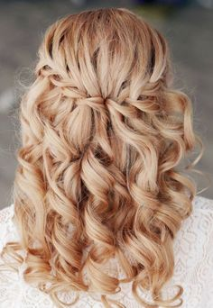 Cute wedding hairstyles, as well as special occasion ones
