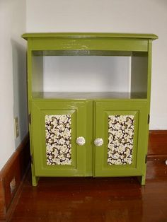 Love Recycled Furniture...donu0027t Like The Color Combo, But Like. Microwave  CartMicrowave StandRecycled ...
