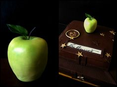 Chocolate birthday cake..sugar apple - the real size