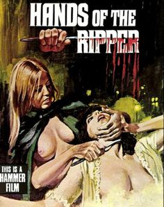 HANDS OF THE RIPPER | pulp cover art comics erotic terror vintage