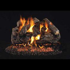 24″ Cedar Vented Gas Log Peterson Real Fyre