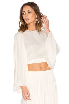 Elizabeth and James Ava Top in Ivory