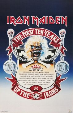 Iron Maiden The First 10 Years  1990 Rare by VintagePosterPlace