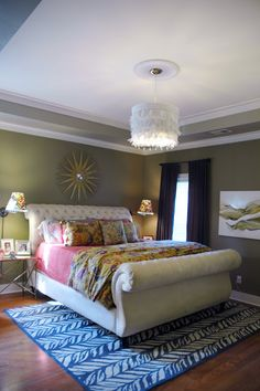 LOVE this Upholstered Sleigh Bed!!!!!