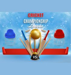 Cricket game championship poster banner vector image on VectorStock