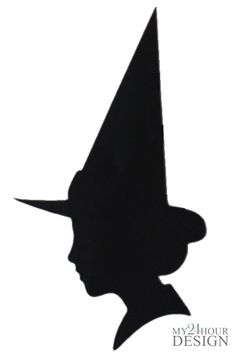 witch silhouette template - Google Search