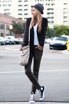 I need this exact outfit... I don't own a fedora but I'd learn to rock one for this outfit.
