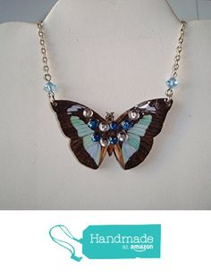 Fly Away Butterfly Necklace from LuDesignsCreations http://www.amazon.com/dp/B015L7ZZT2/ref=hnd_sw_r_pi_dp_Mv0mwb0DCQGD8 #handmadeatamazon