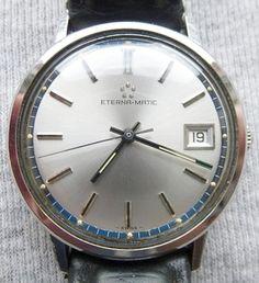 Eterna-Matic-Automatic-Automatik-Armbanduhr-Herren-Uhr-12824-ETA-2824-Datum