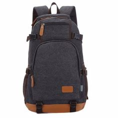 Osmond Fashion Canvas Backpacks Men Laptop Backpack Unisex Rucksack Travel Pack Casual College Students School Bags For Teenage