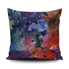 Thud, a Watercolour and Indian Ink Painting turned cushion in a soft Faux Suede finish. Ink Painting, Watercolor And Ink, Soft Furnishings, Cushions, Interiors, Throw Pillows, Indian, Art, Art Background