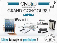 [Concours 5 Ans] Gagnez un ipad mini, une tablette graphique et un Inkling Wacom