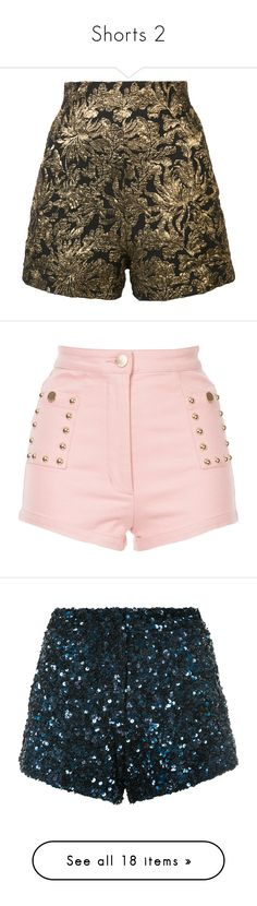 """""""Shorts 2"""" by minleepam ❤ liked on Polyvore featuring shorts, black, haider ackermann, jacquard shorts, bottoms, alice mccall, pink shorts, alice mccall shorts, blue and blue shorts"""