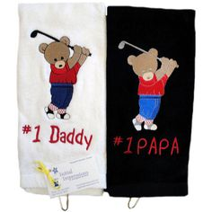 Golf Towels for Daddy and Papa