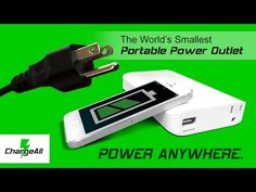 ChargeAll - Worlds Smallest Portable Power Outlet | Indiegogo.  Power up anything, anywhere, anytime! The first portable battery pack with an AC wall plug outlet.