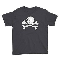 Skull and Crossbones Kids Shirt Children's Tops Boys