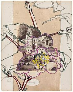Robert Kushner: New Paintings / New Collages - Exhibitions - DC Moore Gallery Collages, Robert Kushner, Nature Sketch, Collage Art Mixed Media, Art Et Illustration, Art Journals, Oeuvre D'art, Painting Inspiration, Artsy