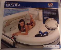 """New STEARNS Fill Air Pontoon & Deck Bed 42""""x44""""x18"""" Taupe P11 #Stearns"""