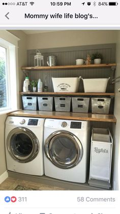 Basement Laundry Room Decorations Ideas And Tips 2018 Small laundry room ideas Laundry room decor Laundry room makeover Farmhouse laundry room Laundry room cabinets Laundry room storage Box Rack Home Small Laundry Rooms, Laundry Room Design, Laundry In Bathroom, Bathroom Plumbing, Farmhouse Laundry Rooms, Laundry Decor, Garage Laundry, Bathroom Closet, Bathroom Small