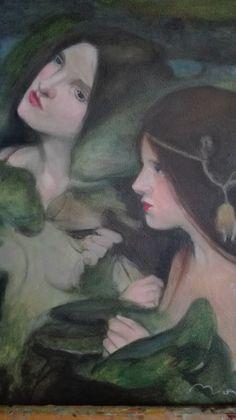 """Hylas and the Water nymphs"" (detail, John William Waterhouse, - Manchester Art Gallery, Manchester John William Waterhouse, Art And Illustration, Manchester Art, Pre Raphaelite, Wow Art, Oeuvre D'art, Art History, Fantasy Art, Art Photography"