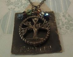Hand Stamped Jewelry Tree of Life Vintage by RipsDesigns on Etsy, $24.00