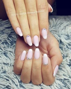 Matte babyboomer nails, glamour nails, wedding nails, design nails, style