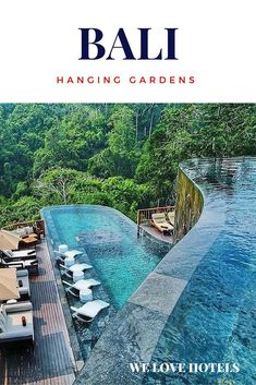 Hanging Gardens in Bali Indonesia, the luxury hotel in Bali