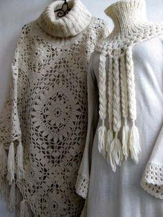 Crochet Poncho and Dress