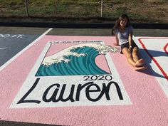We miss school.🥺👉👈 here's some senior year favs Parking Spot Painting, High School Life, High School Seniors, School Goals, Chalk Design, Sidewalk Chalk Art, Space Painting, Aesthetic Painting, Chalk Drawings