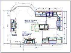 Kitchen floor plans  Kitchen floors and Floor plans on PinterestFloor plan