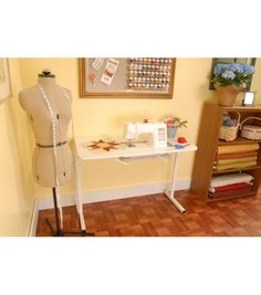 Sew Much More Craft And Hobby Table.  Sewing room idea, too.
