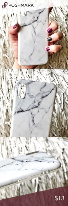 NEW iPhone X SOFT TPU IMD White Marble Case ▪️Fits The new iPhone X     ▪️High Quality Soft TPU - Thick & Shock-Resistant     ▪️IMD In-Mould Printed So Decoration Cannot Fade   ▪️Same or Next Business Day Shipping ! Accessories Phone Cases