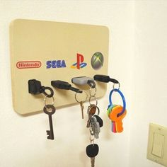 DIY Nerdy Home Decor Ideas Picture 77 Awesome Indoor & Outdoor is part of Geek room - DIY Nerdy Home Decor Ideas Picture 77 Read Game Room Decor, Room Setup, Geek Home Decor, Diy Home Decor, Cute Dorm Rooms, Cool Rooms, Deco Gamer, Geek Room, Diy Casa