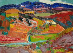 Pierre AMBROGIANI (1907-1985) Paysage Huile sur toile Sold 5500€ with Artprecium #artauction