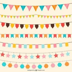 Birthday decorations vector ornaments