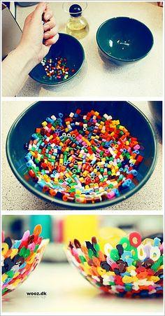 DIY Modern bowl out of Perler beads!