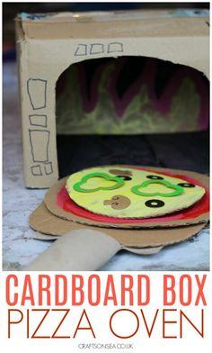 Fun Cardboard Box Crafts for Kids - DIY Recycling Fun Activities For Kids, Preschool Crafts, Preschool Activities, Dramatic Play Centers, Dramatic Play Area, Preschool Dramatic Play, Play Based Learning, Learning Through Play, Art For Kids