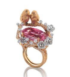 Frivolous Fabulous - Pink Tourmaline Love Birds Frivolous Fabulous Trousseau