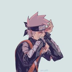 Kakashi - From a Genin to Hokage (Book - Loss of Dear Ones Naruto Kakashi, Anime Naruto, Naruto Shippuden, Naruto Fan Art, Anime Guys, Manga Anime, Boruto, Kakashi Memes, Arte Ninja