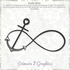 Infinity Anchor Heart || Vinyl Window Decal
