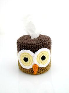 Owl Toilet Paper Cover Crochet Bird by EuniceNeedlecraft on Etsy, $14.99