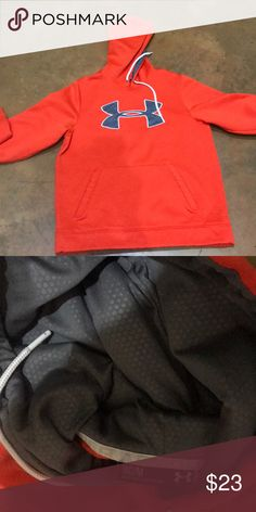 Orange Under Armour Hoodie Excellent used condition no stains or rips Under Armour Jackets & Coats
