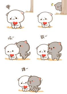 fuck your mother the white cat Cute Cartoon Images, Cute Couple Cartoon, Cute Love Cartoons, Cute Cartoon Wallpapers, Cat Couple, Diy Kawaii, Kawaii Cat, Cute Love Pictures, Cute Love Gif