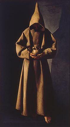 Francisco de Zurbaran - Saint Francis of Assisi in His Tomb, milwaukee art museum paintings Francis Of Assisi, St Francis, Religious Paintings, Religious Art, Caravaggio, Chiaroscuro, Francisco Zurbaran, Francisco Jose, Milwaukee Art Museum