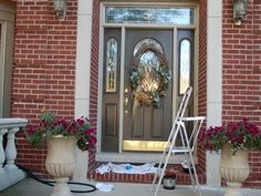 what color should i paint my front door on a brown brick house ...