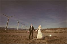 turbine dusk wedding photo !