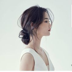 Korean Beauty Beauty- - - # korean Hairstyles step by step Korean Wedding Hair, Wedding Hair And Makeup, Bridal Hair, Hair Makeup, Hair Wedding, Prom Hair, Official Hairstyle, My Hairstyle, Bride Hairstyles